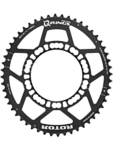 Rotor Q-Ring 110 BCD ydre tandhjul sort